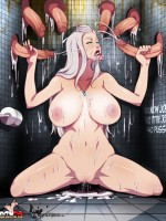 Big-titted purple fairy plugged in both holes